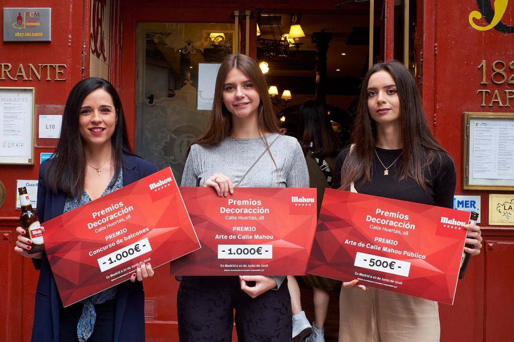 Las tres ganadoras de los Premios Mahou en DecorAcción 2018.